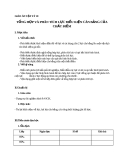Giáo án bài 9: Tổng hợp phân tích lực. ĐK cân bằng chất điểm - Vật lý 10 - GV.T.Đ.Lý