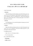 Giáo án GDCD 8 bài 15: Phòng ngừa tai nạn vũ khí cháy nổ và các chất độc hại