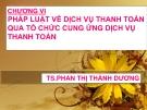 Bài giảng Pháp luật ngân hàng: Chương 6 - TS. Phan Thị Thành Dương