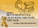 Bài giảng Pháp luật ngân hàng: Chương 2 - TS. Phan Thị Thành Dương
