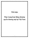 Tiểu luận:Thực trạng hoạt động nhượng quyền thương mại tại Việt Nam