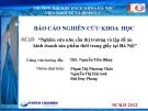 Báo cáo nghiên cứu khoa học: Nghiên cứu nhu cầu thị trường và lập đề án kinh doanh sản phẩm thời trang giấy tại Hà Nội