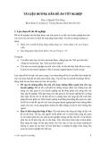 Tài liệu hướng dẫn đồ án tốt nghiệp - TS. Nguyễn Tiến Dũng