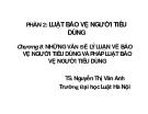 Bài giảng Luật bảo vệ người tiêu dùng - TS Nguyễn Thị Vân Anh