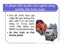 Bài giảng Vi phạm bản quyền của ngành công nghiệp ôtô Trung Quốc