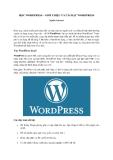 Học Wordpress - Giới thiệu và cài đặt Wordpress