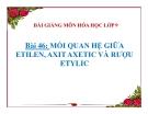 Bài giảng Hóa học 9 bài 46: Mối liên hệ giữa etilen, rượu etylic và axit axetic