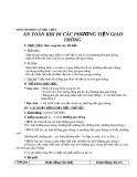 Bài 20: An toàn khi đi các phương tiện giao thông - Giáo án TNXH 2 - GV:N.T.Sỹ