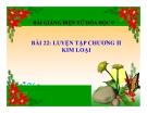 Slide bài Luyện tập chương 2 - Kim loại - Hóa 9 - GV.Phạm V.Minh