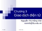 Bài giảng Thương mại điện tử: Chương 3 - GV.Nguyễn Thị Hồng Vân