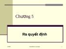 Bài giảng về Quản trị học: Chương 5