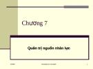 Bài giảng về Quản trị học: Chương 7