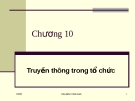 Bài giảng về Quản trị học: Chương 10