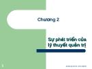 Bài giảng môn Quản trị học: Chương 2