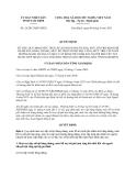 Quyết định 26/2013/QĐ-UBN