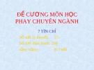 Bài giảng phay chuyên ngành - Nguyễn Văn Phước