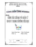 SKKN: Công tác chỉ đạo và quản lý ứng dụng CNTT trong trường Tiểu học - GV. Trần Thị Khanh