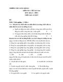 Đề kiểm tra 1 tiết Địa 9 – THCS Long Khánh A 2013-2014 (kèm đáp án)