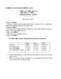 Đề kiểm tra giữa học kì 1 Địa 9 – THCS Huỳnh Khương Ninh (kèm đáp án)