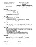 Đề thi tuyển lớp 10 môn Toán năm 2011 - Trường THCS Đáp Cầu (Đợt 2)