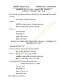 5 Đề kiểm tra cuối HK1 môn Tiếng Việt lớp 1