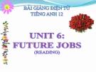 Bài giảng Tiếng Anh 12 unit 6: Future jobs