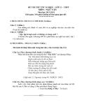 Đề thi thử tốt nghiệp lớp 12 THPT môn Ngữ văn