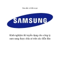 Kinh nghiệm thi tuyển dụng cho công ty SamSung