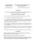 Quyết định 16/2013/QĐ-UBND tỉnh Quảng Bình