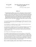 Thông tư 96/2013/TT-BTC sửa đổi Thông tư 121/2011/TT-BTC