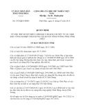 Quyết định 1975/QĐ-UBND năm 2013