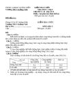 Đề kiểm tra 1 tiết kì 2 Địa 9 – THCS Quảng Vinh (kèm đáp án)