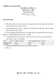 Đề kiểm tra giữa HK2 Địa 9 – THCS Khánh Bình (kèm đáp án)