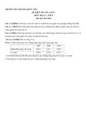Đề kiểm tra giữa HK2 Địa 9 – THCS Hoàng Quốc Việt  2011-2012 (kèm đáp án)