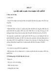 Giáo án GDCD 6 bài 17: Quyền bất khả xâm phạm về nhà ở