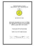 Luận văn: Kế toán chi phí sản xuất và tính giá thành sản phẩm tại xí nghiệp đông lạnh thủy sản AFIEX