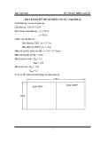 Bài tập dài Kỹ thuật điện cao áp - Trạm biến áp