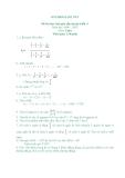 Đề thi học sinh giỏi lớp 6 môn Toán  - Kèm đáp án