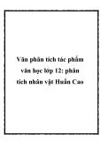 Văn phân tích tác phẩm văn học lớp 12: phân tích nhân vật Huấn Cao