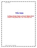 Tiểu luận: Vi phạm hành chính và trách nhiệm hành chính trong pháp luật Việt Nam hiện nay