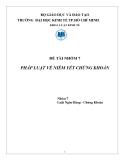 Tiểu luận: Pháp luật về niêm yết chứng khoán