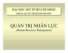 Bài giảng Quản trị nhân lực - ĐH Mở TP. HCM