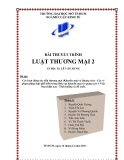 Tiểu luận: Các hoạt động xúc tiến thương mại (Khuyến mại và Quảng cáo) - Các vi phạm pháp luật phổ biến trong lĩnh vực khuyến mại và quảng cáo ở Việt Nam hiện nay - Tình huống và đề xuất