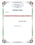 Thuyết trình: Quy định pháp luật về điều chỉnh hoạt động tín dụng của ngân hàng (trừ hoạt động cho vay)
