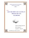 Tiểu luận: Quản trị chiến lược tại công ty Beeline Việt Nam năm 2009 - 2010