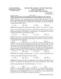 Đề thi thử ĐH Vật lí - THPT Chuyên Lê Quí Đôn năm 2014 (Mã đề 485)