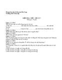 Đề kiểm tra 1 tiết Vật lí 7 - THCS Phú Mỹ