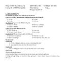 15 Đề kiểm tra HK1 Sinh 6 - Kèm Đ.án