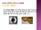 Bài giảng Gia công tia Laser
