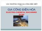 Bài giảng Gia công điện hóa
